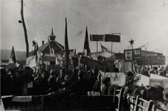 Valjevskaposla Zbor u oslobodenom Valjevu 1944 1024x677 1